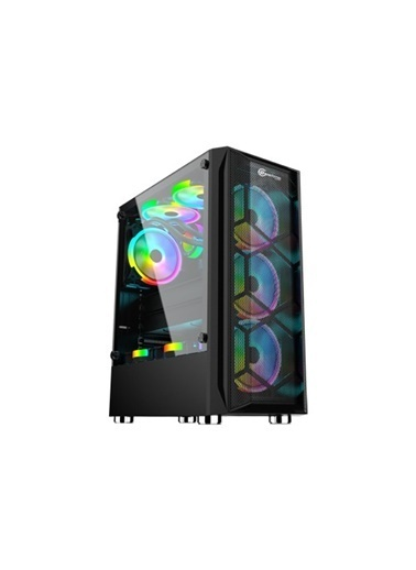 Performax Performax Hellfire Siyah Temperli Cam Rgb Atx 550W 80+ Gaming Renkli